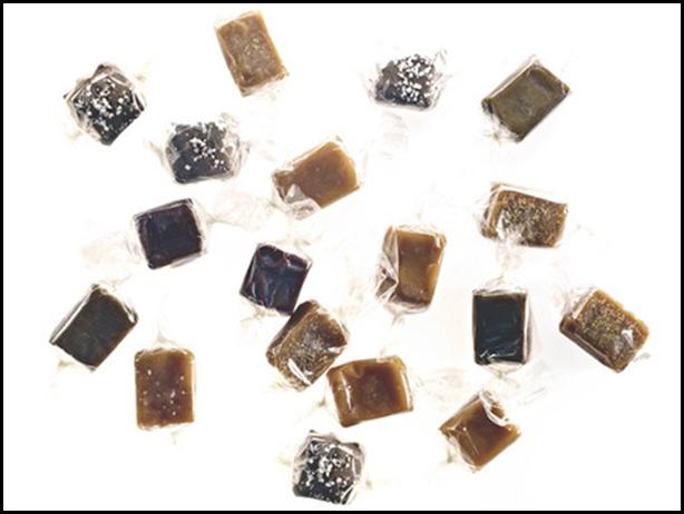 a confetti of caramel