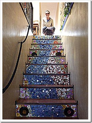 staircase mosaic