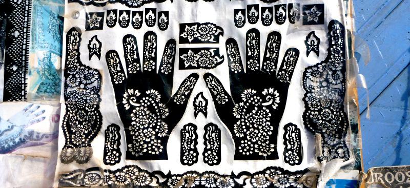 Henna templates, Chefchaouen