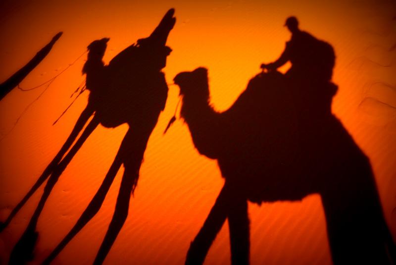 Camel-riding in Merzouga, Morocco