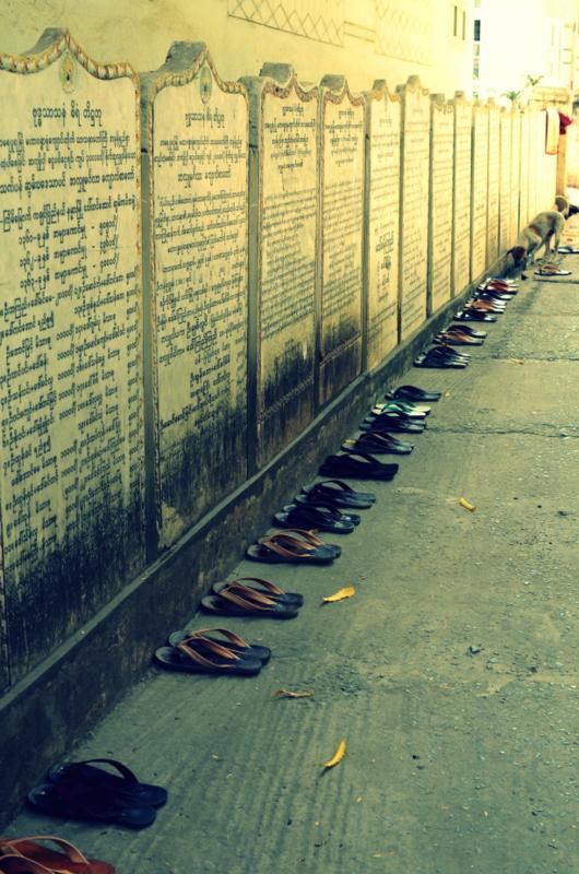 religious texts near U Bein Bridge