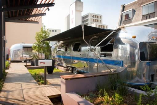 Airstream Trailer Park, The Grand Daddy Hotel, pic borrowed from Grand Daddy's website