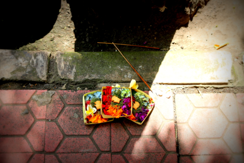 Balinese Offerings to the Gods, Indonesia