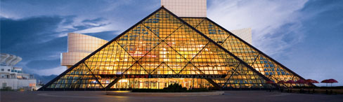 Rock and Roll Hall of Fame + Museum, photo borrowed from Rock and Roll Hall of Fame website