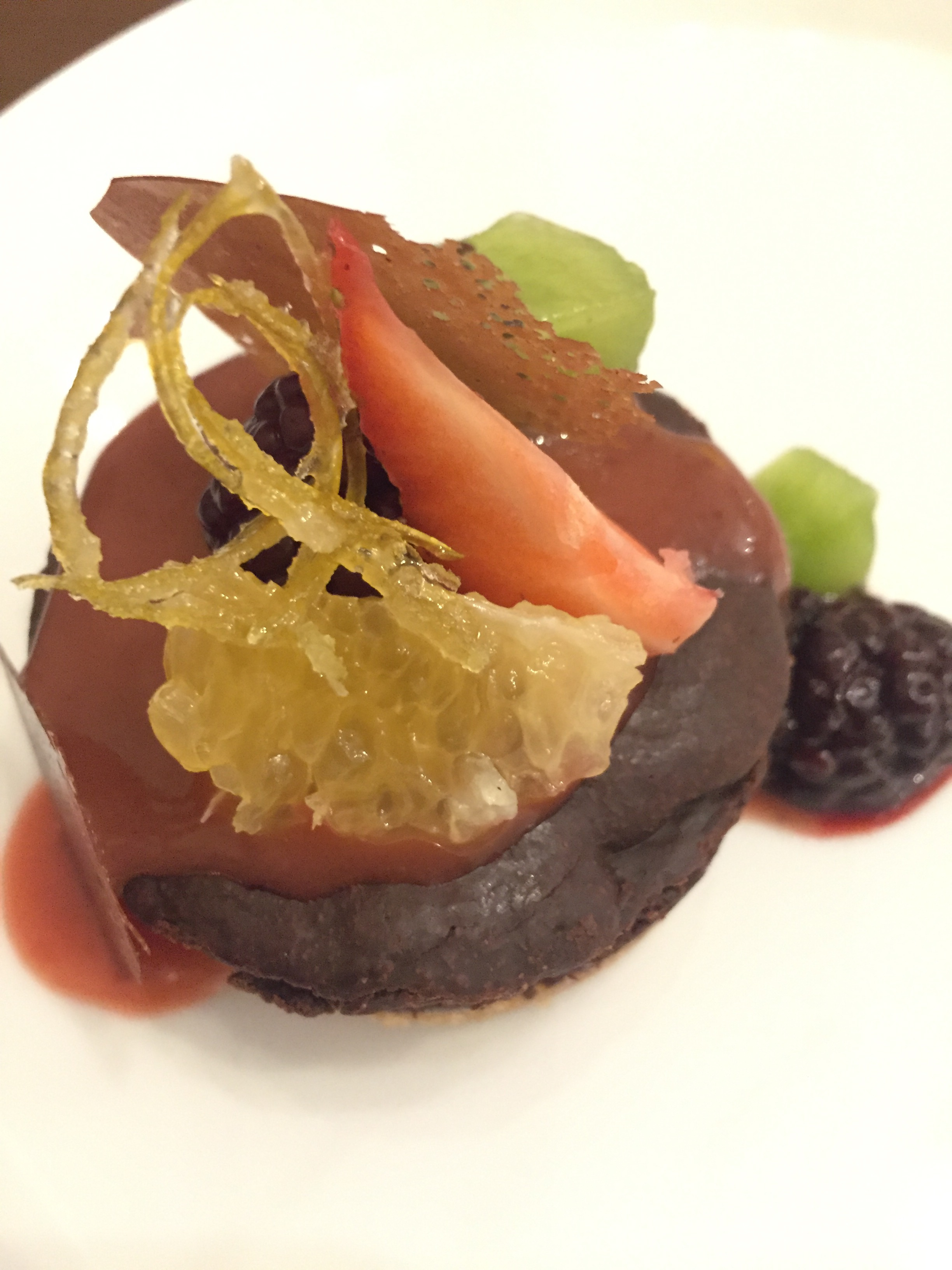 Organic Chocolate Tart | Haute Cuisine in La Paz, Bolivia at Ona Restaurant in Atix Hotel