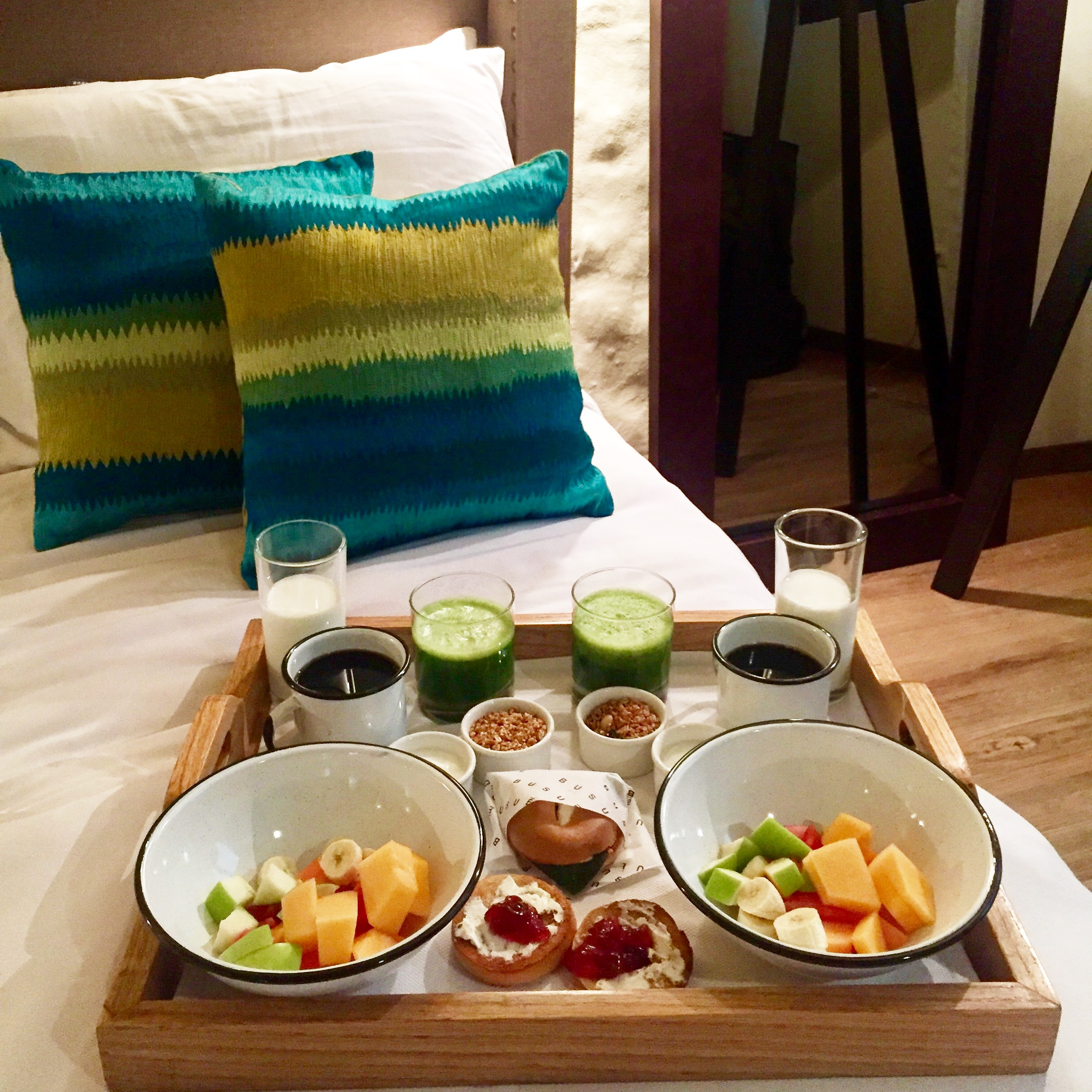Breakfast in Bed at Busue Hotel in Mexico City | Best Places to Stay in Mexico City