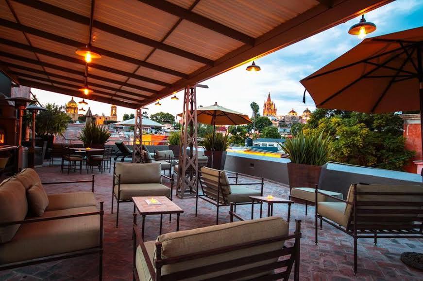 Best Hotels in San Miguel de Allende | Casa Tierra Negra Boutique Hotel Terrace
