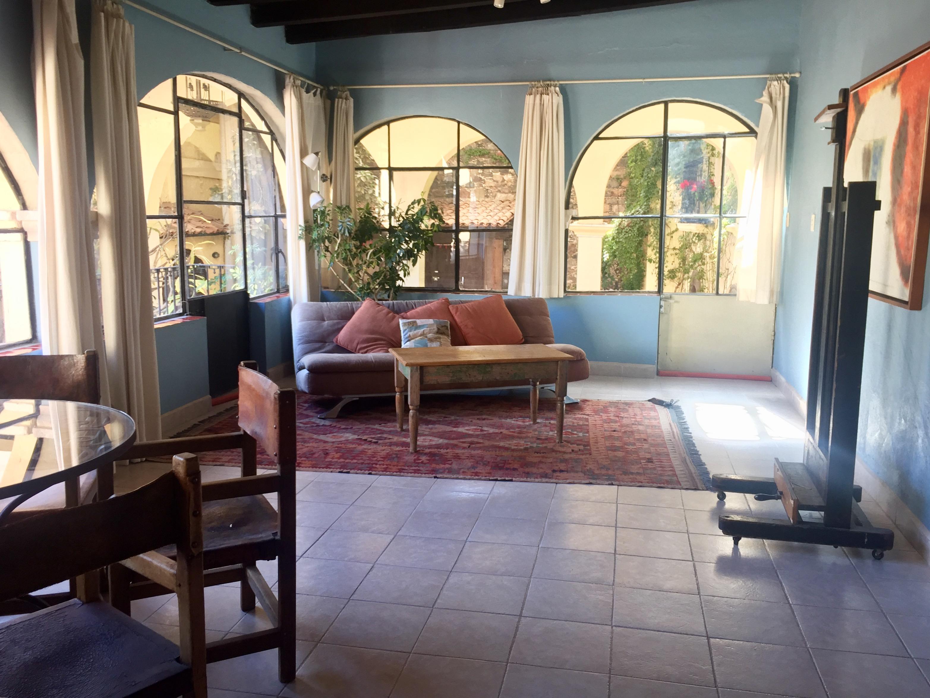 San Miguel Hotels | Casa de la Noche Besos Suite Living Room